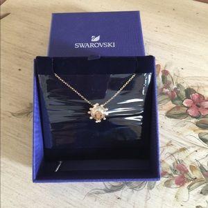 Swarovski Crystal Golden Yellow Necklace